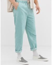 Pantalon chino turquoise ASOS DESIGN