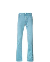 Pantalon chino turquoise Jacob Cohen