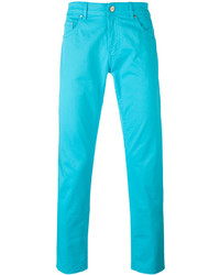 Pantalon chino turquoise Pt01