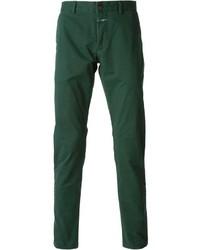 Pantalon chino vert foncé