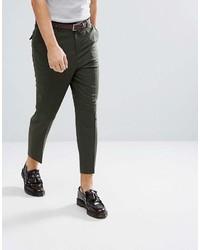 Pantalon chino vert foncé Asos