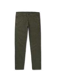 Pantalon chino vert foncé Aspesi