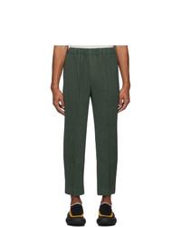 Pantalon chino vert foncé Homme Plissé Issey Miyake