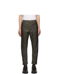 Pantalon chino vert foncé Prada