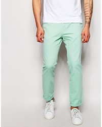Pantalon chino vert menthe Bellfield
