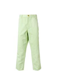 Pantalon chino vert menthe Comme Des Garcons SHIRT