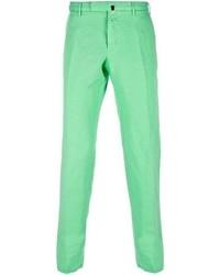 Pantalon chino vert menthe Incotex