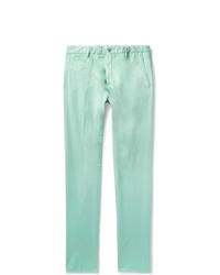 Pantalon chino vert menthe Zanella