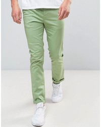 Pantalon chino vert Asos