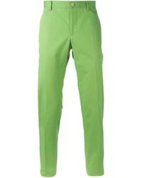 Pantalon chino vert Etro