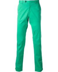 Pantalon chino vert Fay