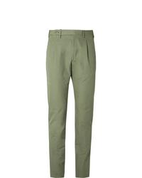 Pantalon chino vert Zanella