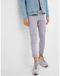 Pantalon chino violet clair ASOS DESIGN