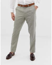 Pantalon de costume à carreaux beige Selected Homme
