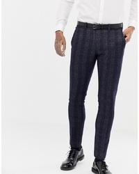 Pantalon de costume à carreaux bleu marine Antony Morato