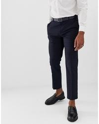 Pantalon de costume à carreaux bleu marine Burton Menswear