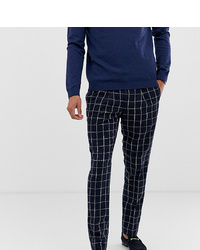 Pantalon de costume à carreaux bleu marine Noak
