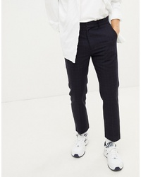 Pantalon de costume à carreaux bleu marine Weekday