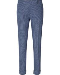 Pantalon de costume à carreaux bleu