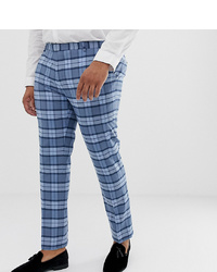 Pantalon de costume à carreaux bleu Twisted Tailor