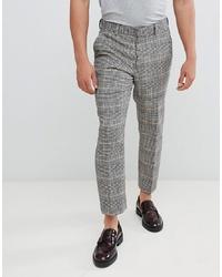 Pantalon de costume à carreaux gris ASOS DESIGN