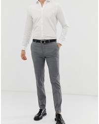 Pantalon de costume à carreaux gris Burton Menswear