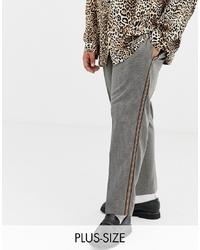 Pantalon de costume à carreaux gris Collusion