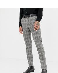 Pantalon de costume à carreaux gris Heart & Dagger