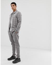 Pantalon de costume à carreaux gris Jack & Jones