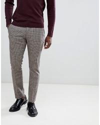 Pantalon de costume à carreaux gris Selected Homme