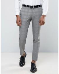 Pantalon de costume à carreaux gris Selected