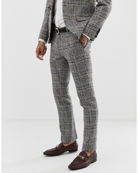 Pantalon de costume à carreaux gris Twisted Tailor