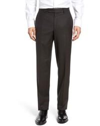 Pantalon de costume à carreaux marron foncé