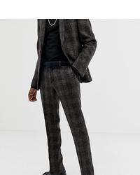 Pantalon de costume à carreaux marron foncé Heart & Dagger