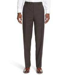 Pantalon de costume à carreaux marron
