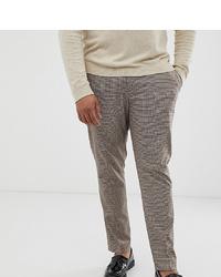 Pantalon de costume à carreaux marron ASOS DESIGN