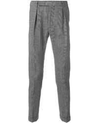 Pantalon de costume à carreaux noir et blanc