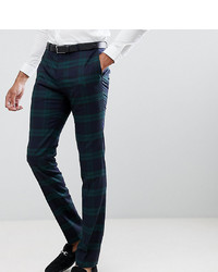 Pantalon de costume à carreaux vert foncé Twisted Tailor