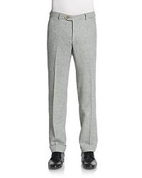Pantalon de costume à chevrons gris