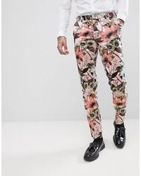 Pantalon de costume à fleurs rose ASOS Edition
