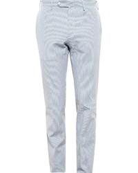 Pantalon de costume à rayures verticales bleu clair