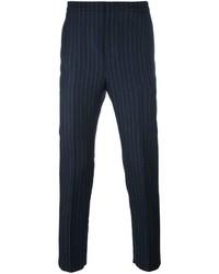 Pantalon de costume à rayures verticales bleu marine Golden Goose Deluxe Brand
