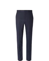 Pantalon de costume à rayures verticales bleu marine Polo Ralph Lauren