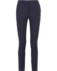 Pantalon de costume à rayures verticales bleu marine Victoria Beckham