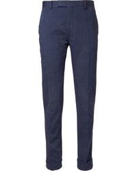 Pantalon de costume à rayures verticales bleu Gant