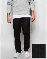 Pantalon de costume à rayures verticales gris foncé Asos
