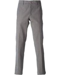 Pantalon de costume à rayures verticales gris Incotex