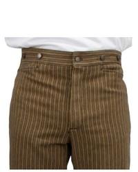 Pantalon de costume à rayures verticales marron