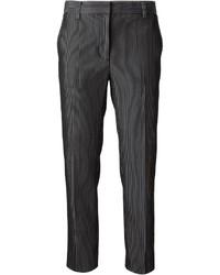 Pantalon de costume à rayures verticales noir 3.1 Phillip Lim