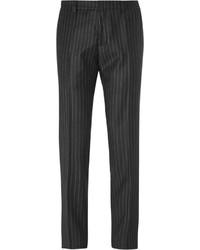 Pantalon de costume à rayures verticales noir Ami